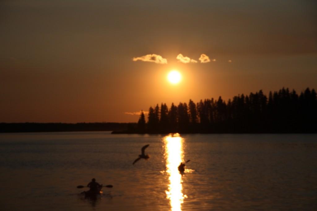 Sunset at Astotin Lake