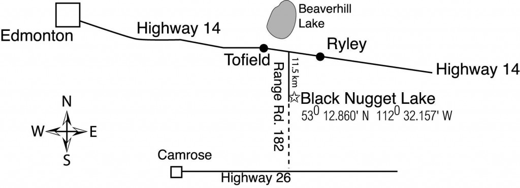 Map to Black Nugget Lake
