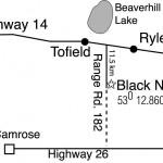 Map to Black Nugget Lake